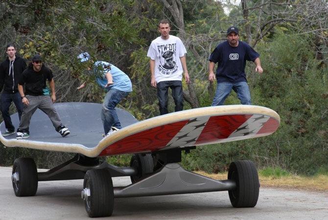 Самый большой в мире скейтборд