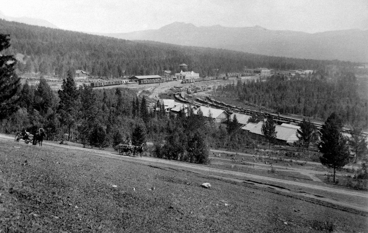 Вид на станцию. 1890-е г.