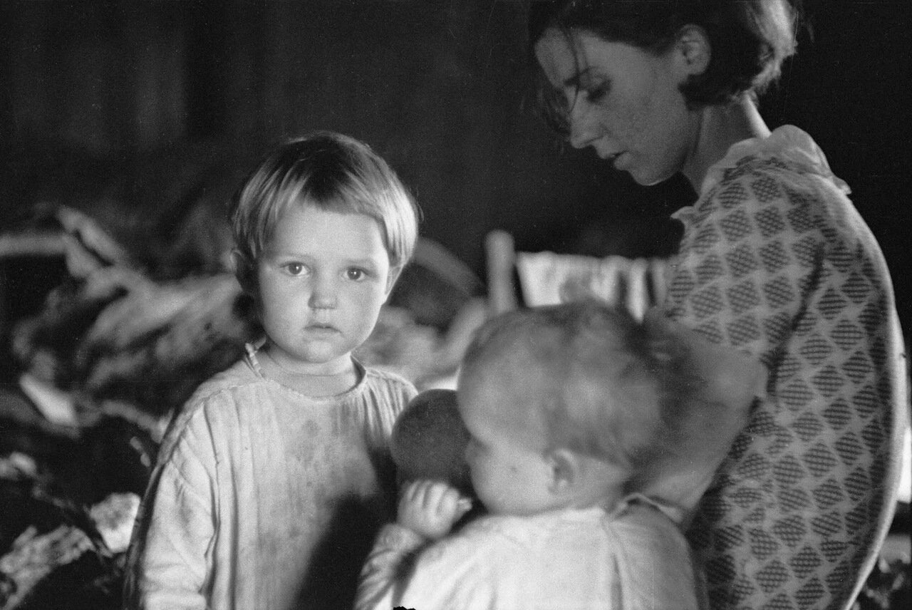 Семья переселенцев из Северной Каролины, 1935