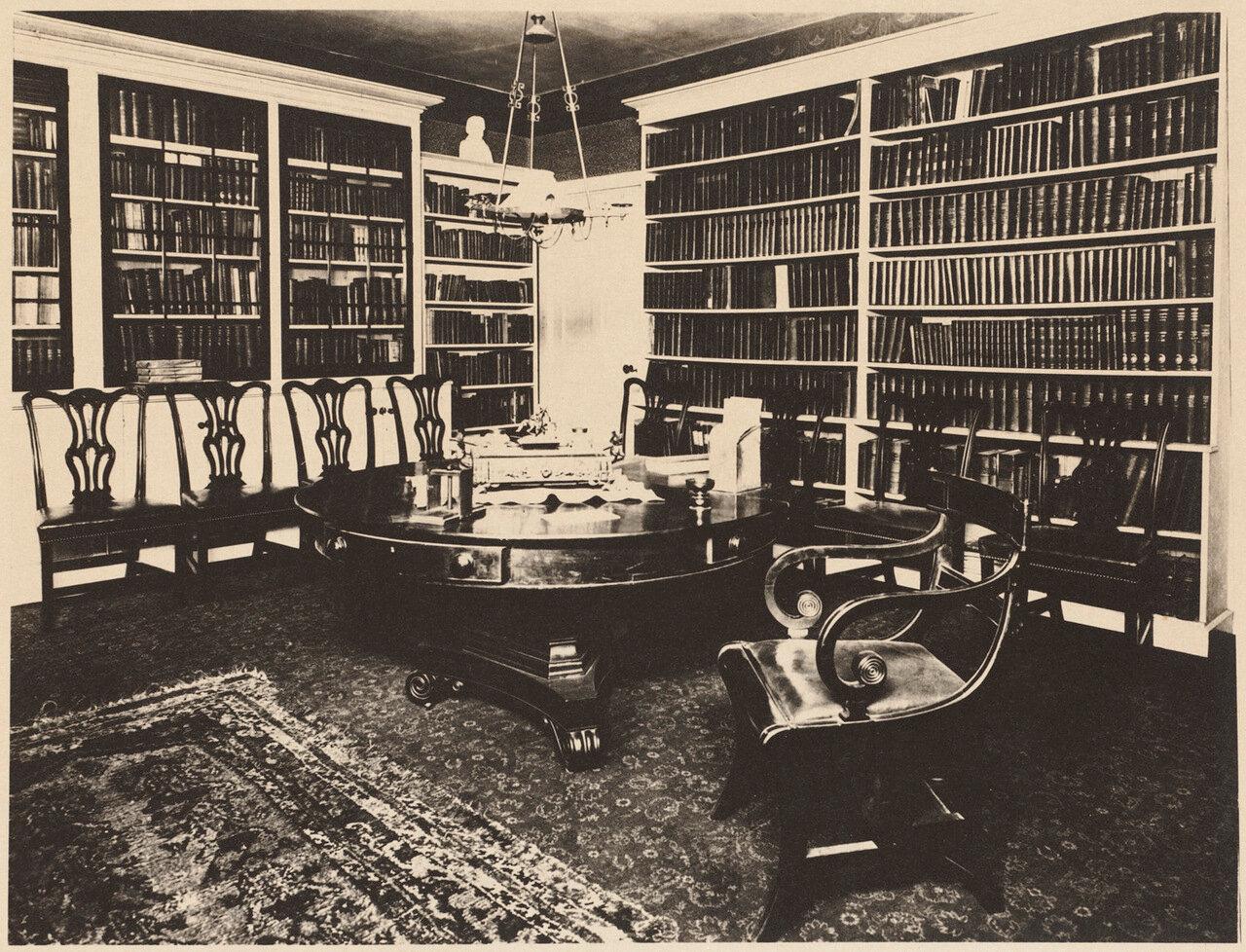 1916. Интерьер дома Лемюэля Шоу, главного судьи штата Массачусетс
