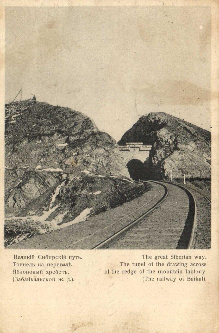 Тоннель на перевале Яблоневый хребет
