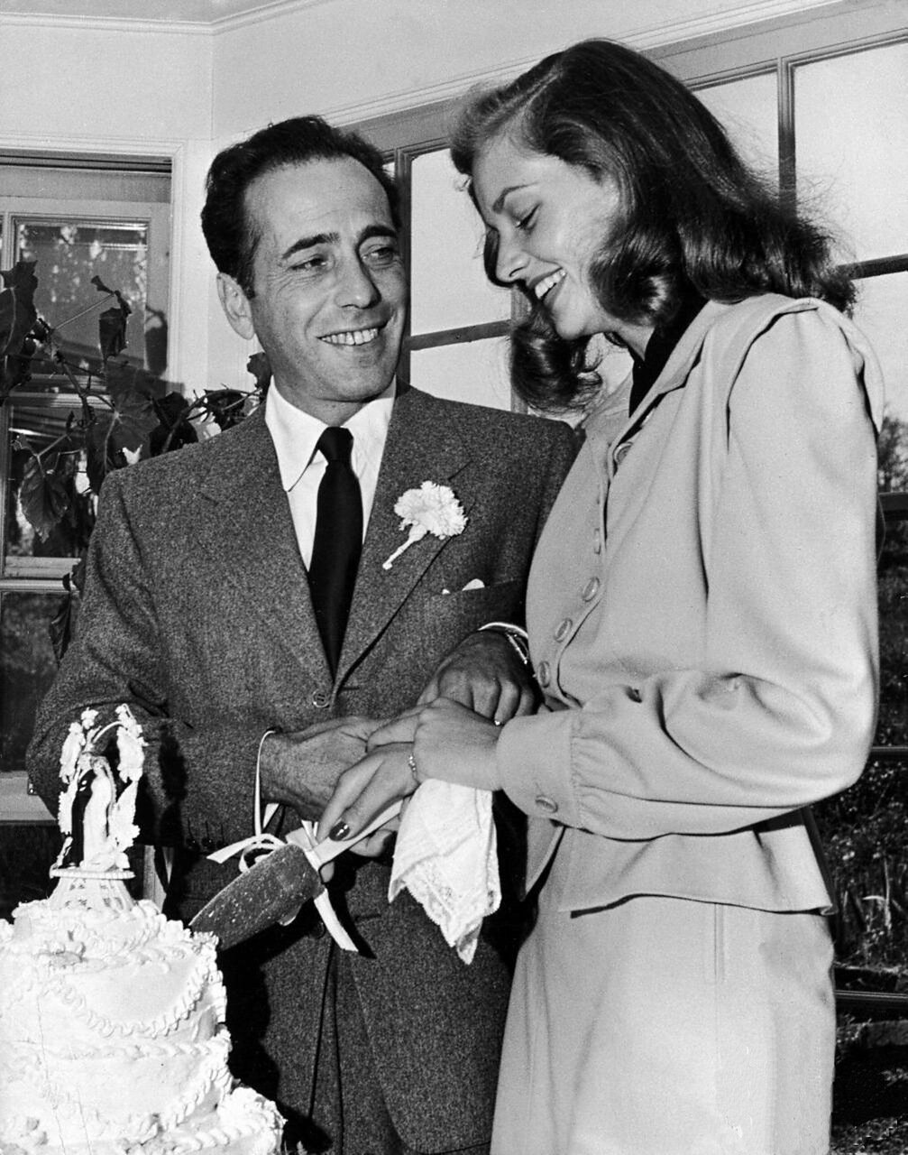 Свадьба Лорен Бэколл и Хамфри Богарта