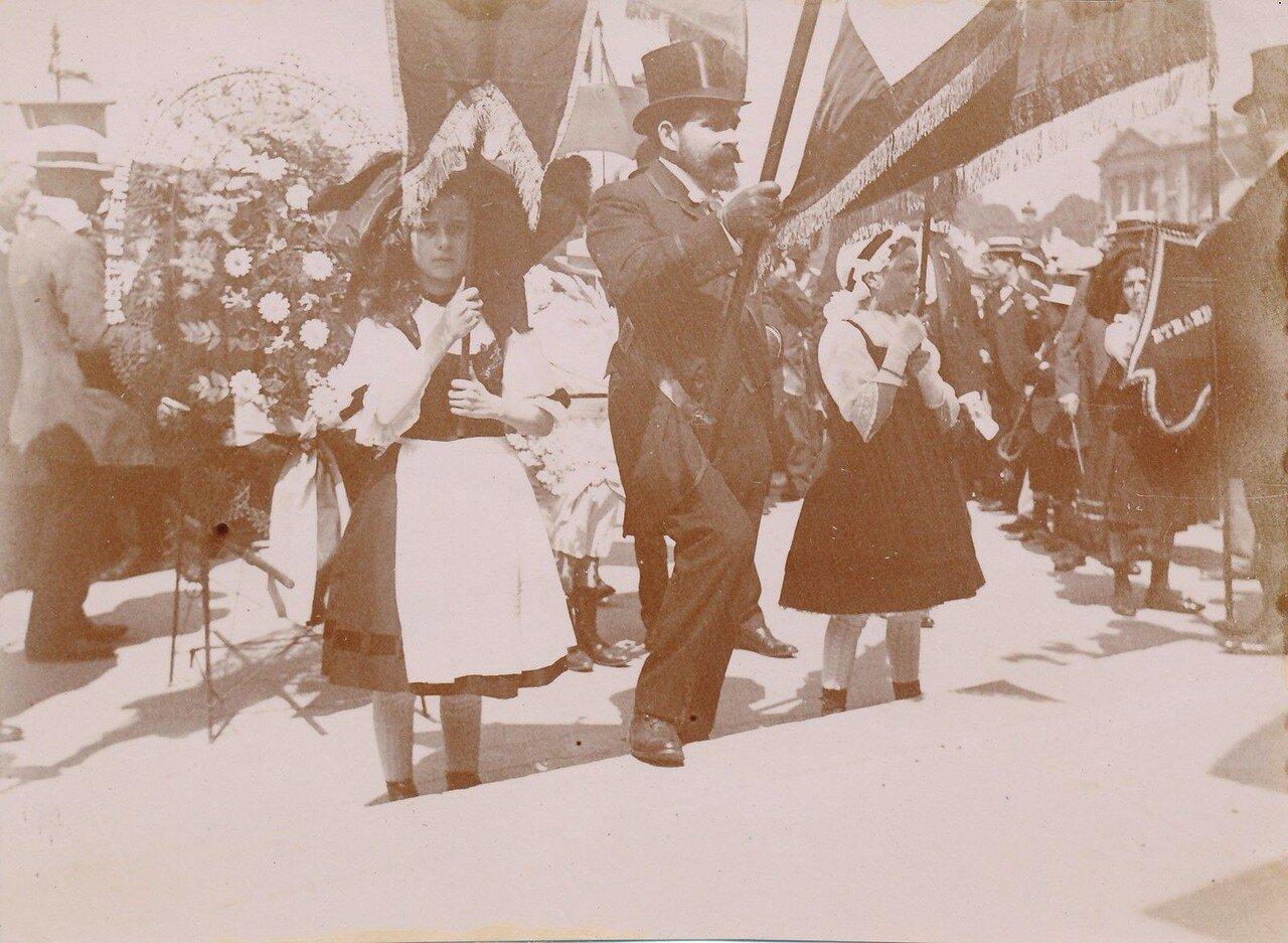 1911. Манифестация Лиги патриотов 14 июля на площади Согласия