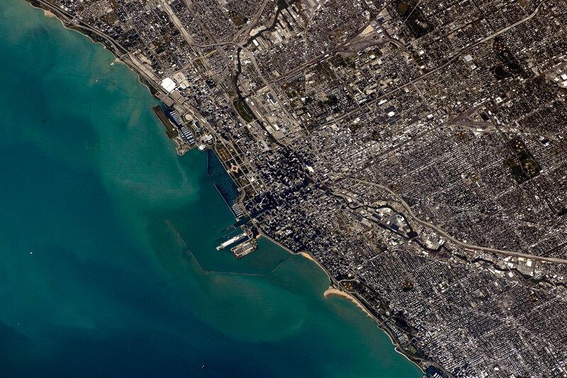 Чикаго. Вид из космоса