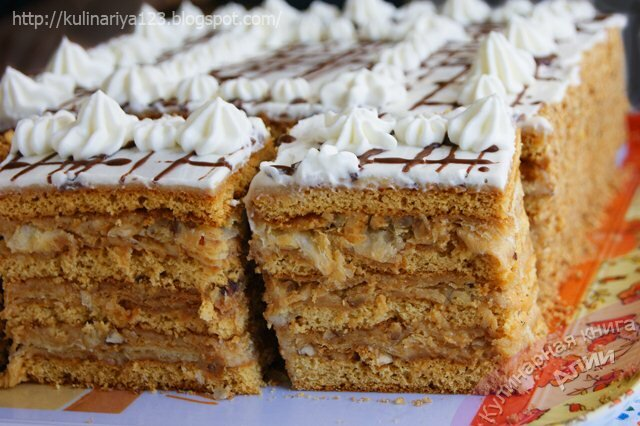 Медово-слоеный торт арлекин