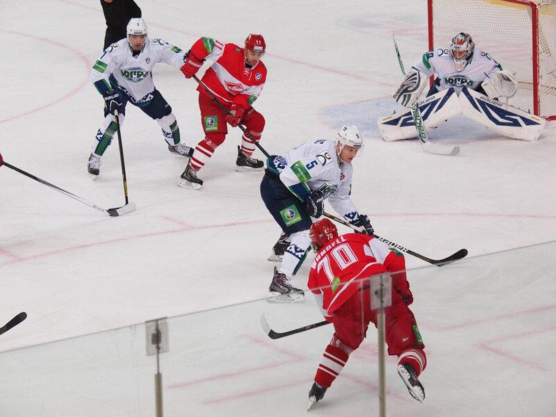 «Спартак» vs «Югра» 0:1 чемпионат КХЛ 2013-2014 (Фото)