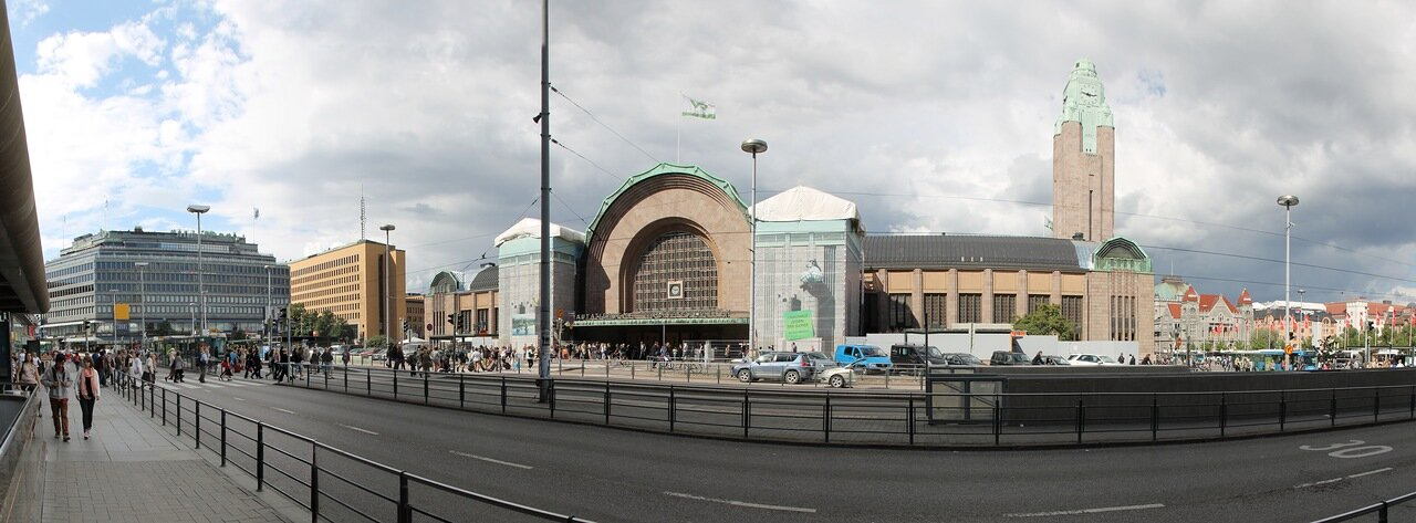 Helsinki Central railway station, panorama