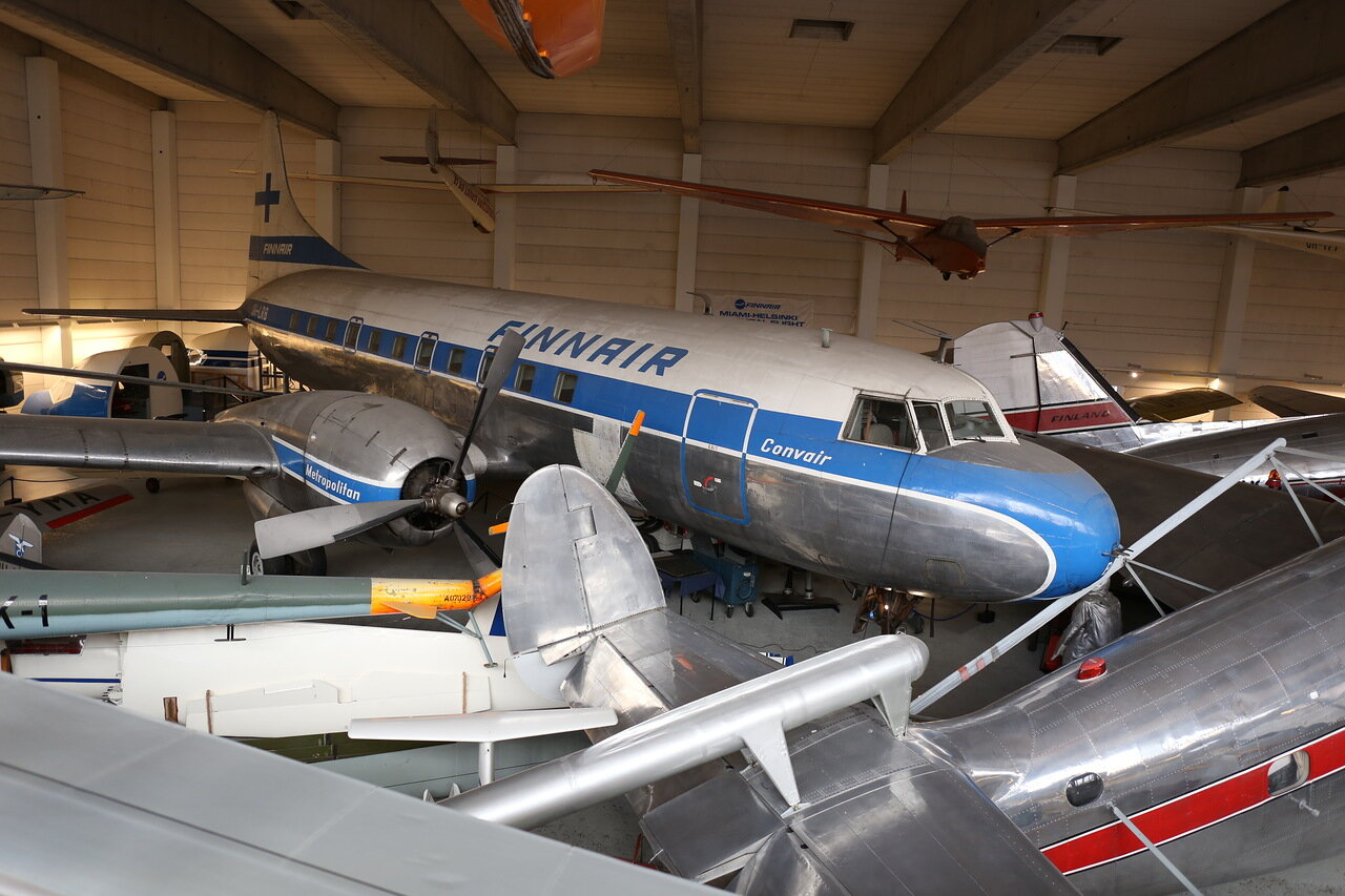 Helsinki-Vantaa Air Museum. Convair-440 passenger aircraft