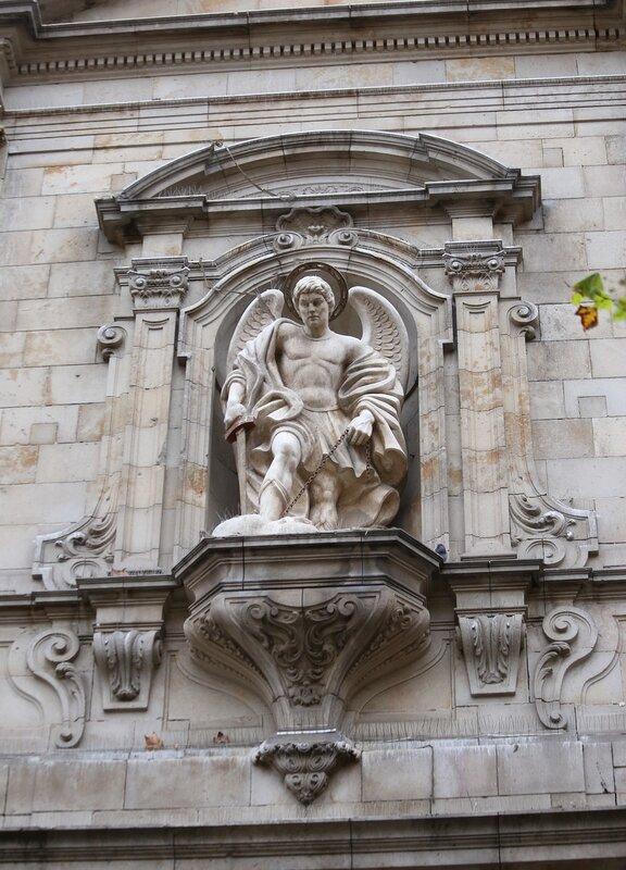 Barcelona. The Square of Barceloneta, the Church of San Miguel del Port (Iglesia San Miguel del Port )