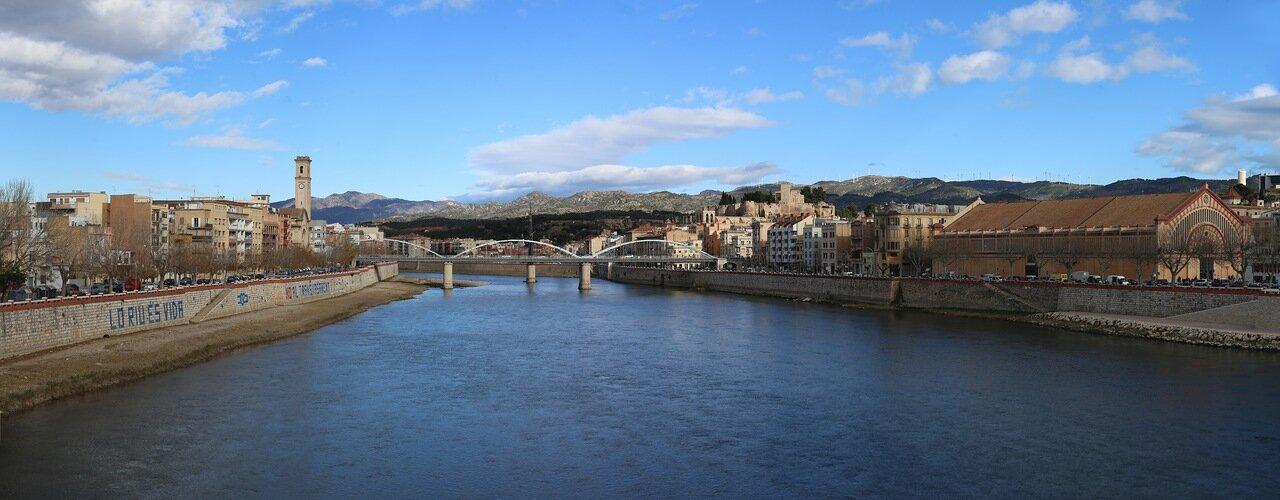 Тортоса, Tortosa, река Эбро, Ebro river, panorama