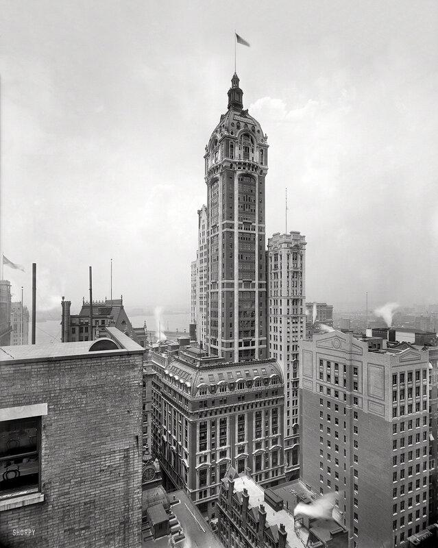 New York circa 1908. The Singer Building