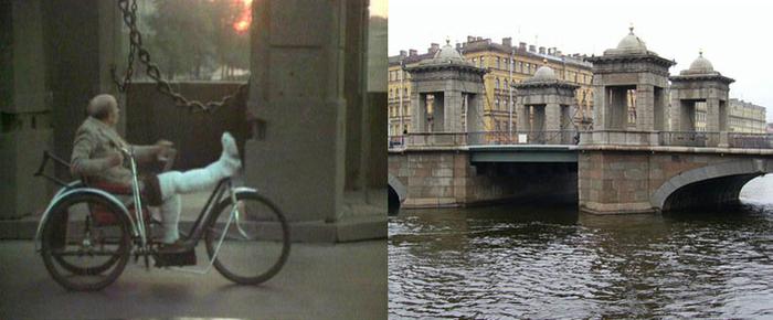 48. Хромой тем временем переезжает мостик Ломоносова.