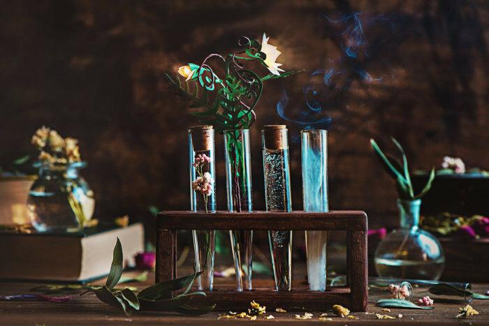 Цветущий папоротник (Blooming fern). Автор работ: Дина Беленко (Dina Belenko).