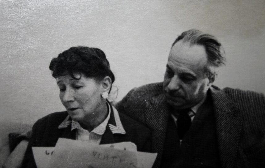 Рина Зеленая с мужем Котэ Топуридзе