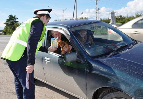 Тюменских водителей остановят колбасным жезлом  2