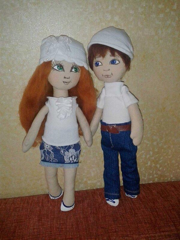 куклы мальчик с девочкой