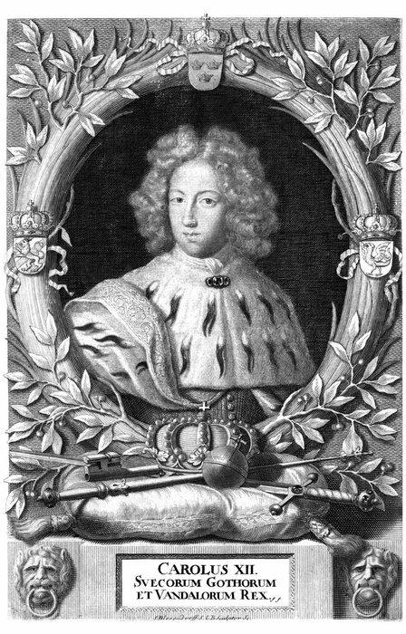 Карл XII. Его официальный титул - Правитель Готов и Вендов.