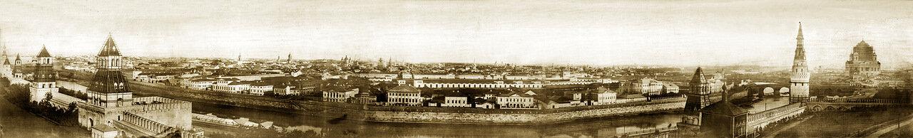 Панорама Москвы в 1856 году