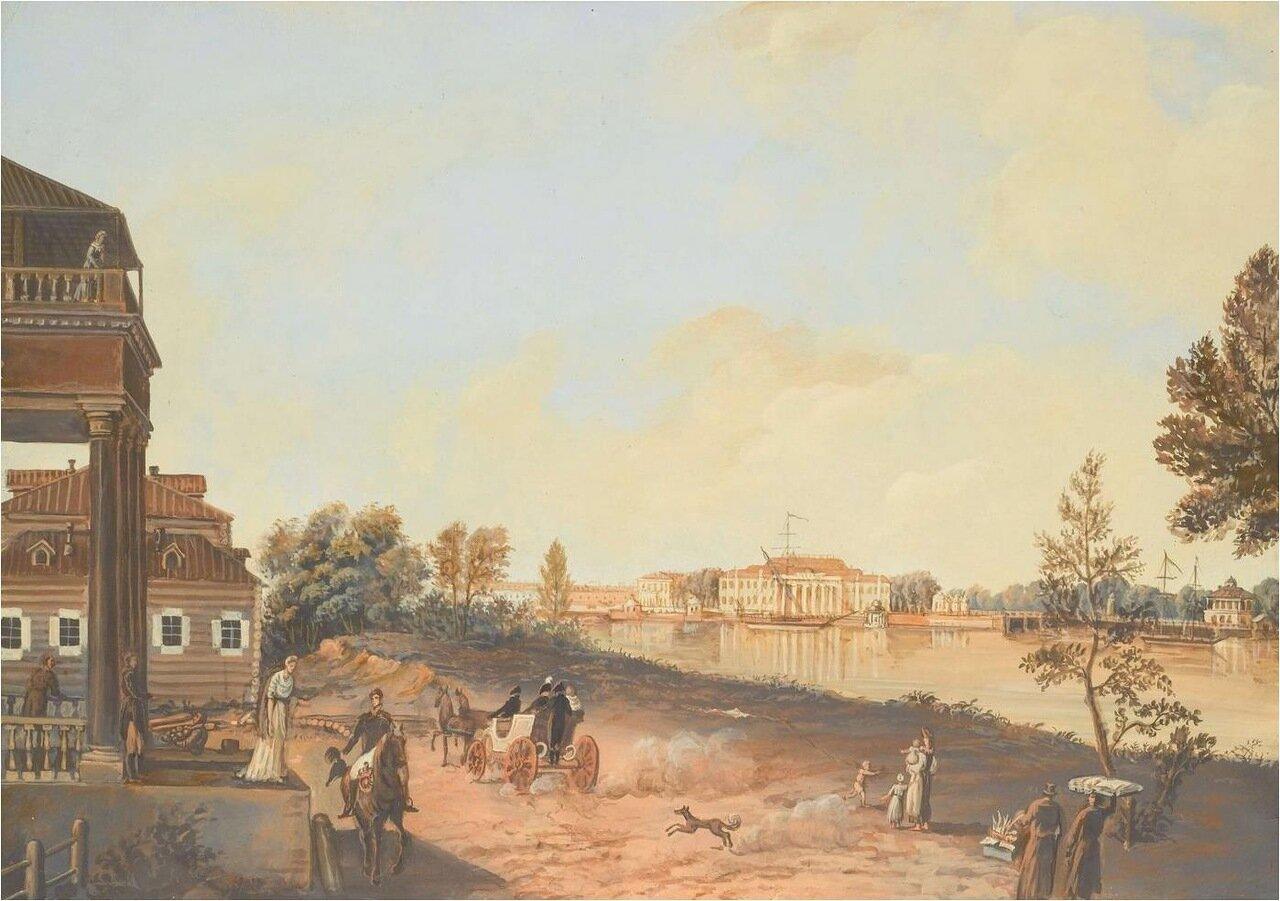 Вид на Каменный остров с дворцом Александра I