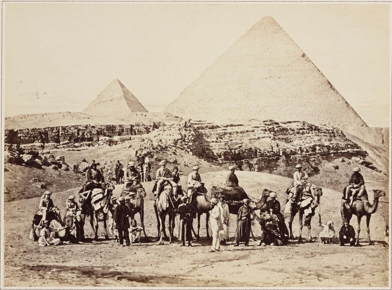 Март 1862. Альберт Эдвард, принц Уэльский в Гизе, Египет