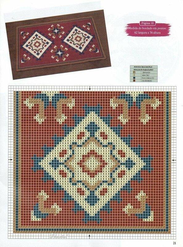Схемы для вышивки коврика крестом 977