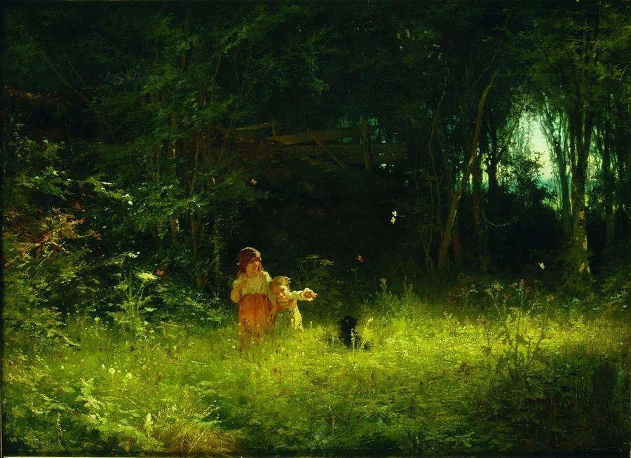 Дети в лесу. 1887.jpg
