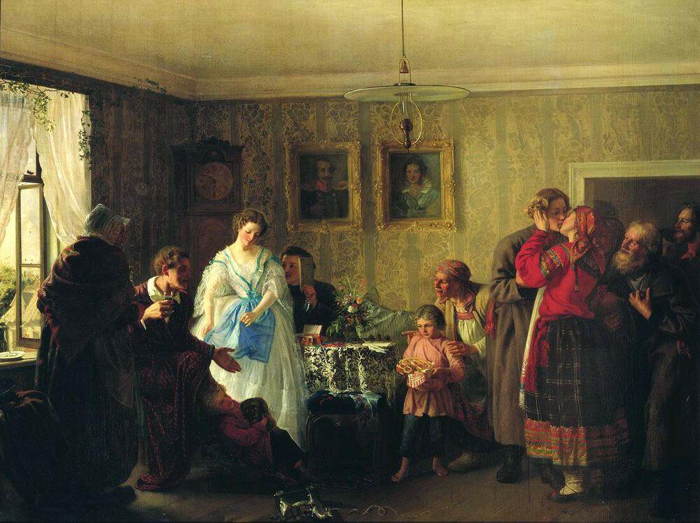 «Поздравление молодых в доме помещика» 1861 Г.96 x 123,5 см. Русский музей, Санкт-Петербург, Россия