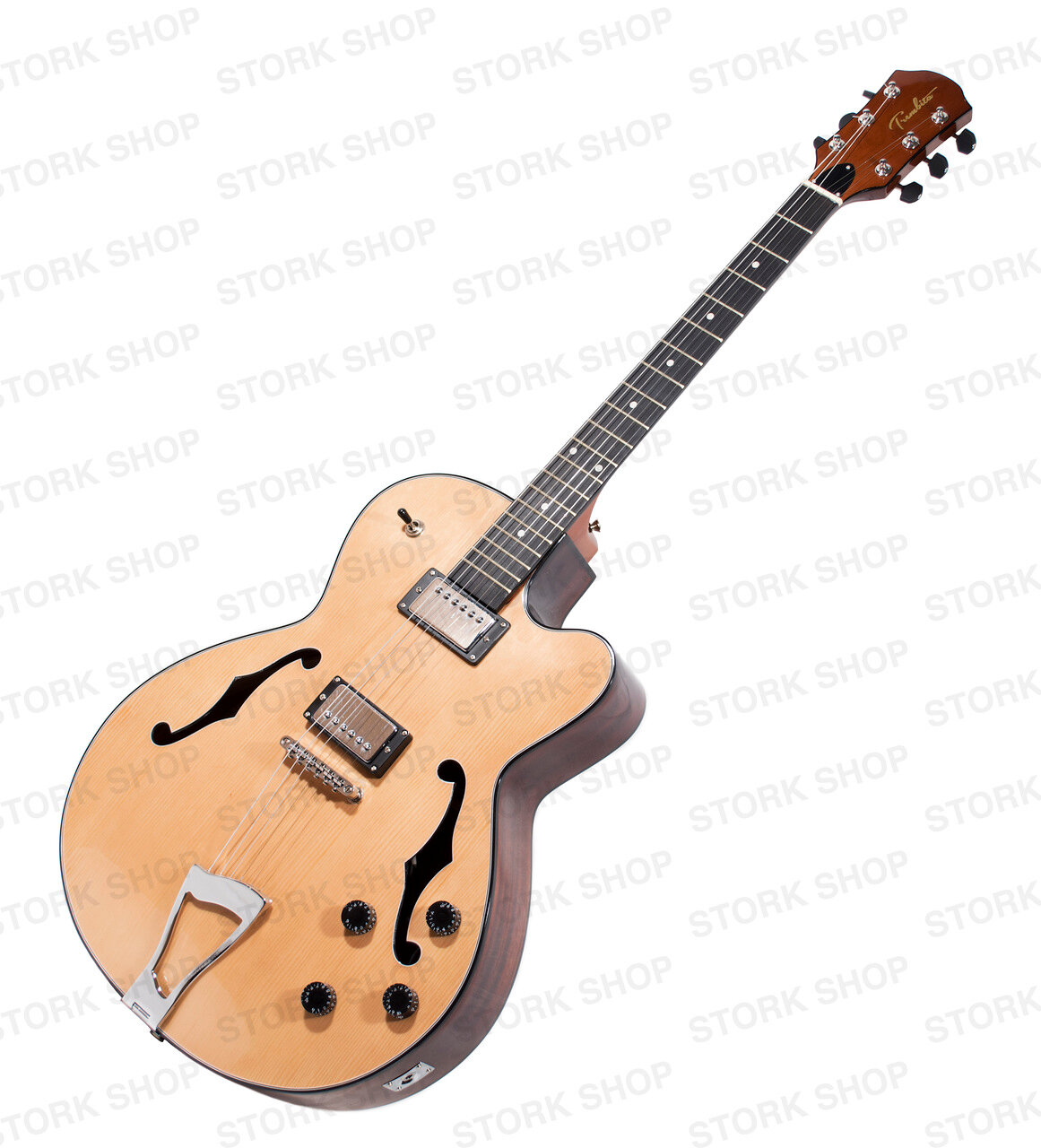 new arch top hollow body cutaway electric guitar 6 six strings natural spruce ebay. Black Bedroom Furniture Sets. Home Design Ideas