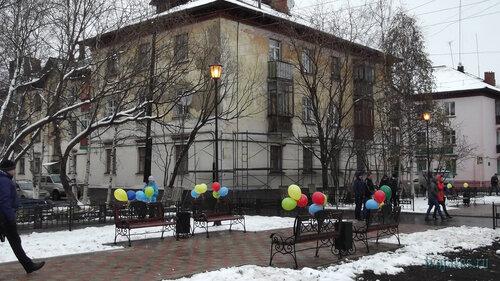 Фото города Инта №6007  Юго-западный угол Чайковского 5 04.10.2013_11:46