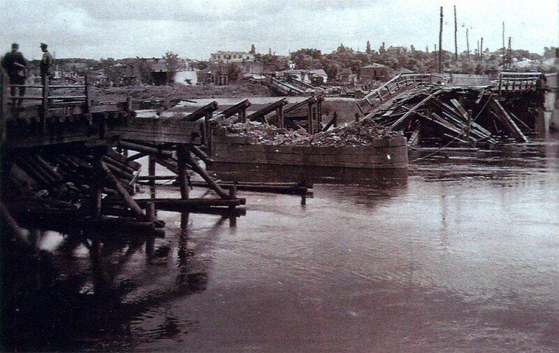 Разрушенный мост в Виннице. 1941 год