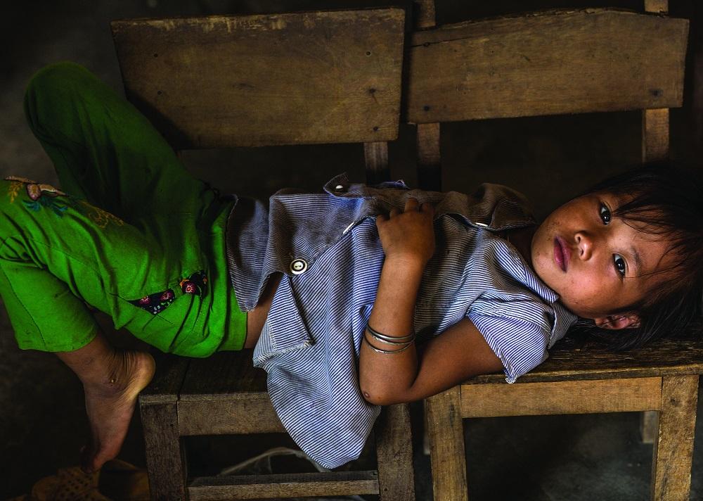 Ребенок в Куанг Ба.