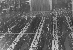 Угощение казаков по случаю празднования 100-летия Лейпцигской битвы.