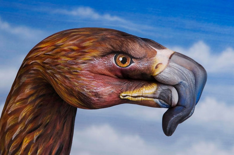Hand Art. Животные на руках от Guido Daniele