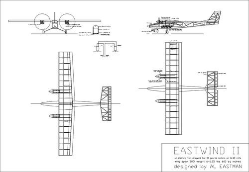 Чертеж модели самолёта Eastwind 2
