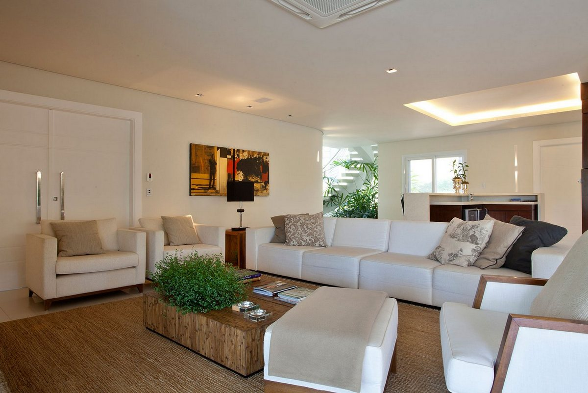 PUPO + GASPAR Architecture & Interior, светлый дизайн дома, светлый интерьер частного дома, дом в Сан-Паулу, особняки Бразилии