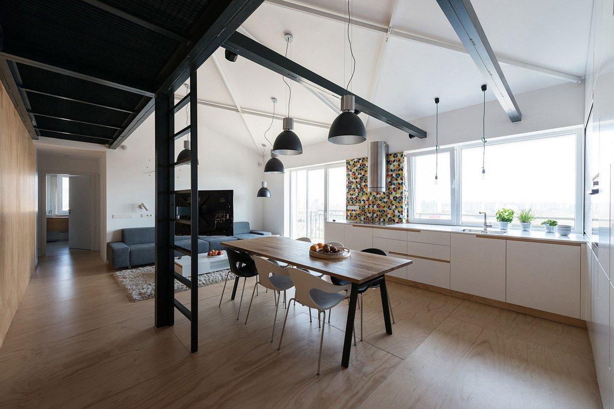 Loft Apartment, RULES architects, интерьер квартиры, современная квартира дизайн, оформление квартиры, квартира для молодых, интерьер в стиле лофт