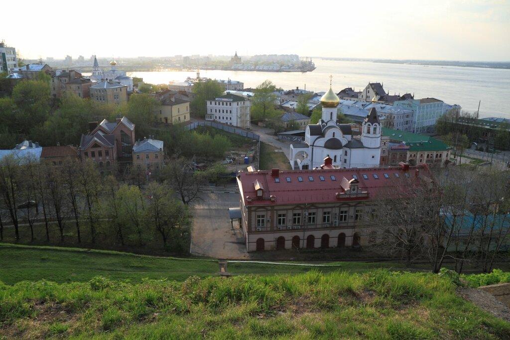Вид на Нижний Новгород и Стрелку