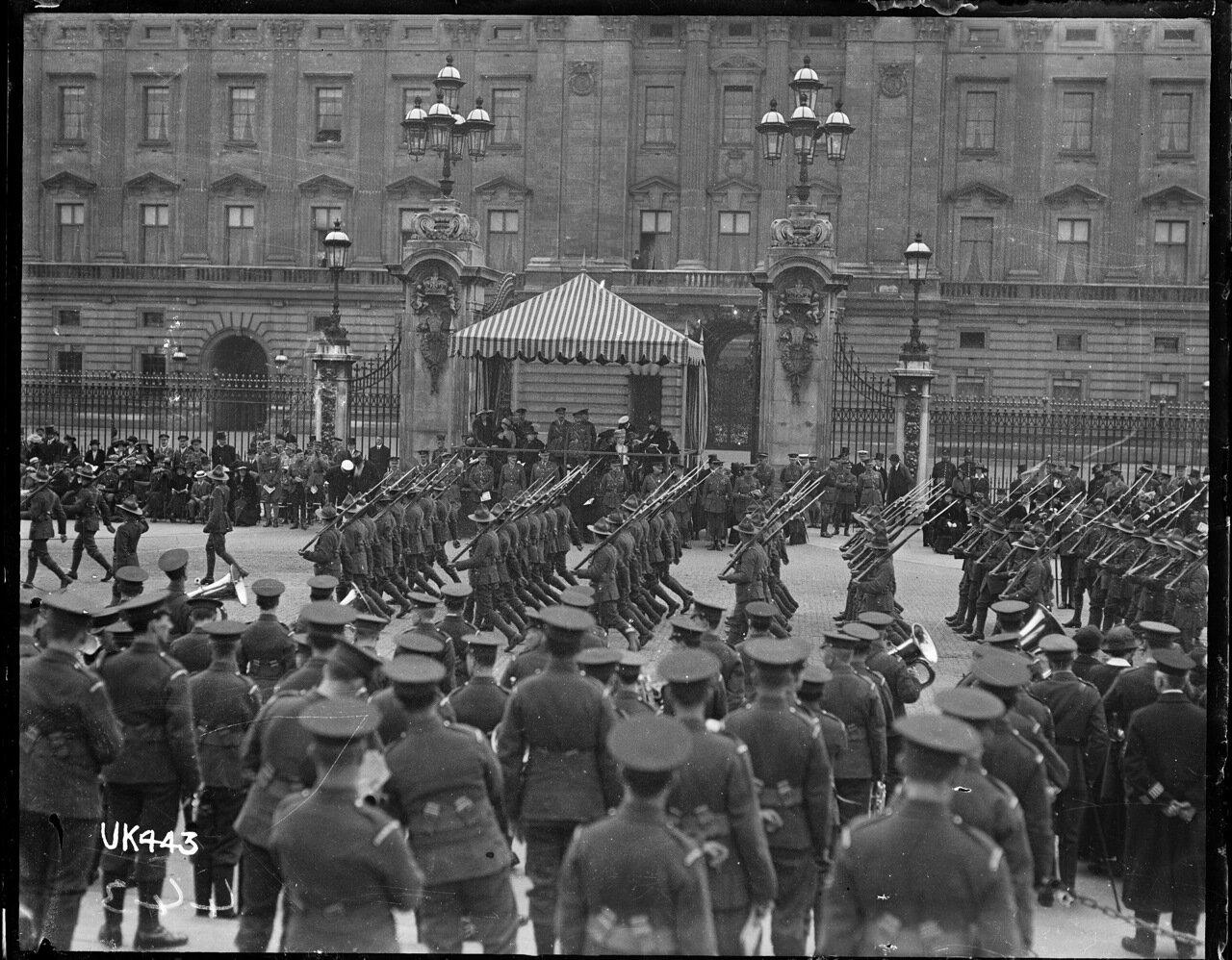 Новозеландские войска на параде