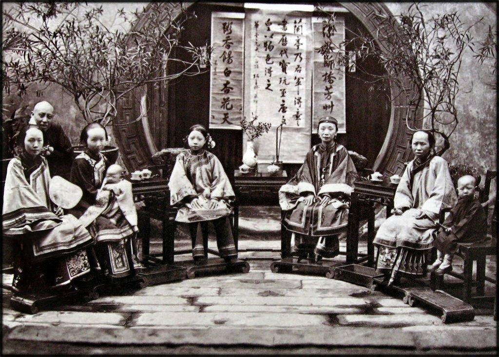 1875. Китайская семья