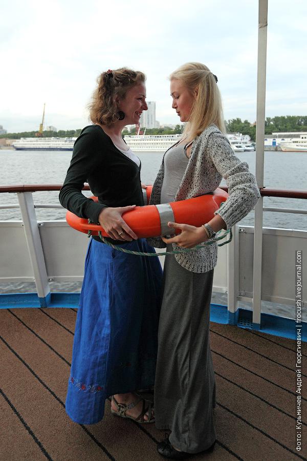Дарья и Дарья на теплоходе Михаил Булгаков