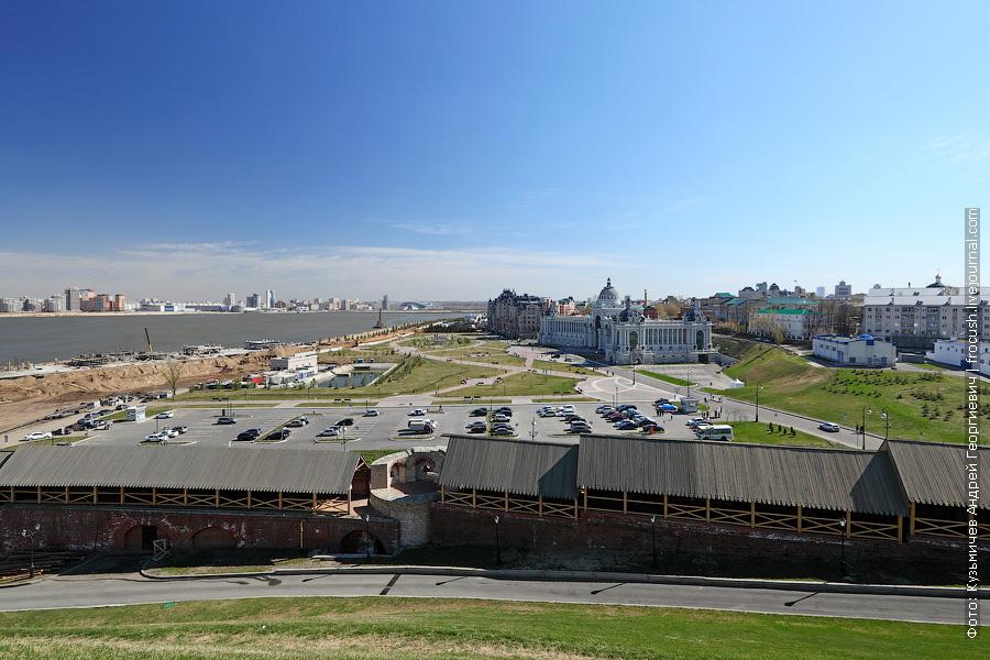 Окрестности Казанского кремля. Левый берег реки Казанка