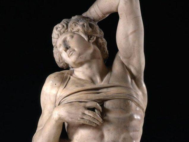 Dying slave, (1513-16) Michelangelo, Louvre(3)
