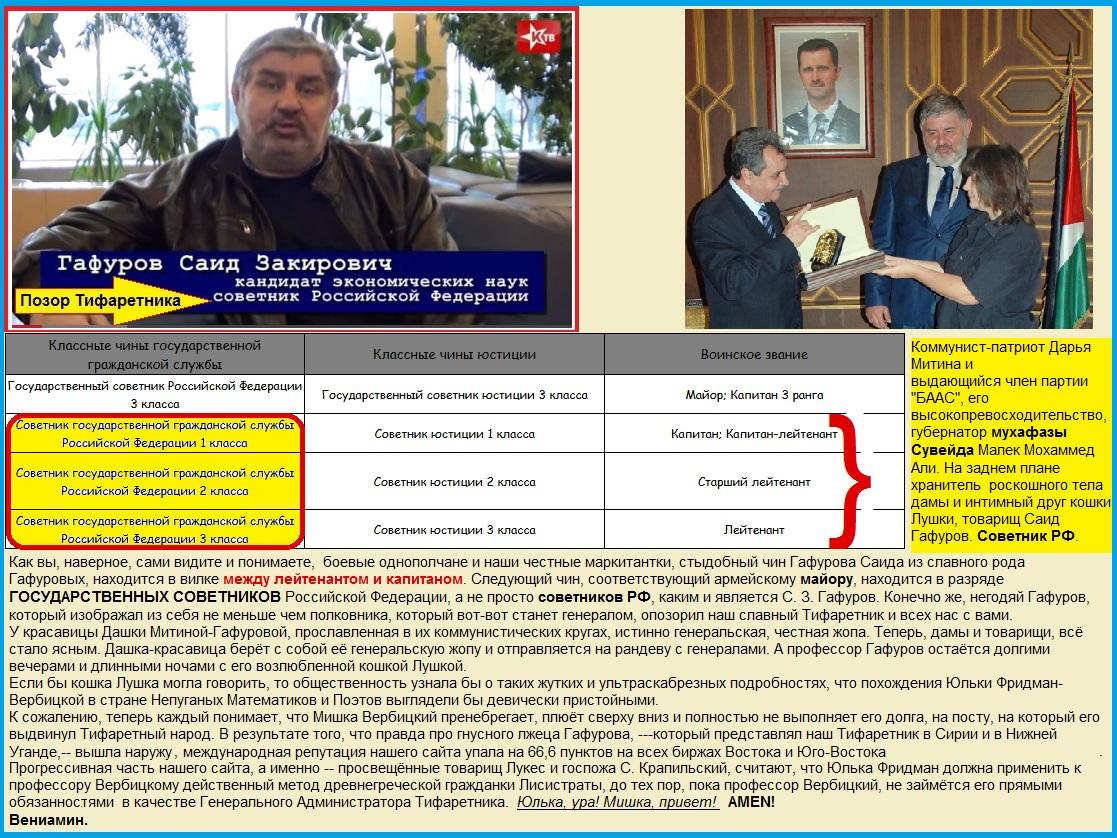 Гафуров Саид Закирович, Советник Российской Федерации, Митина, ЛЖР