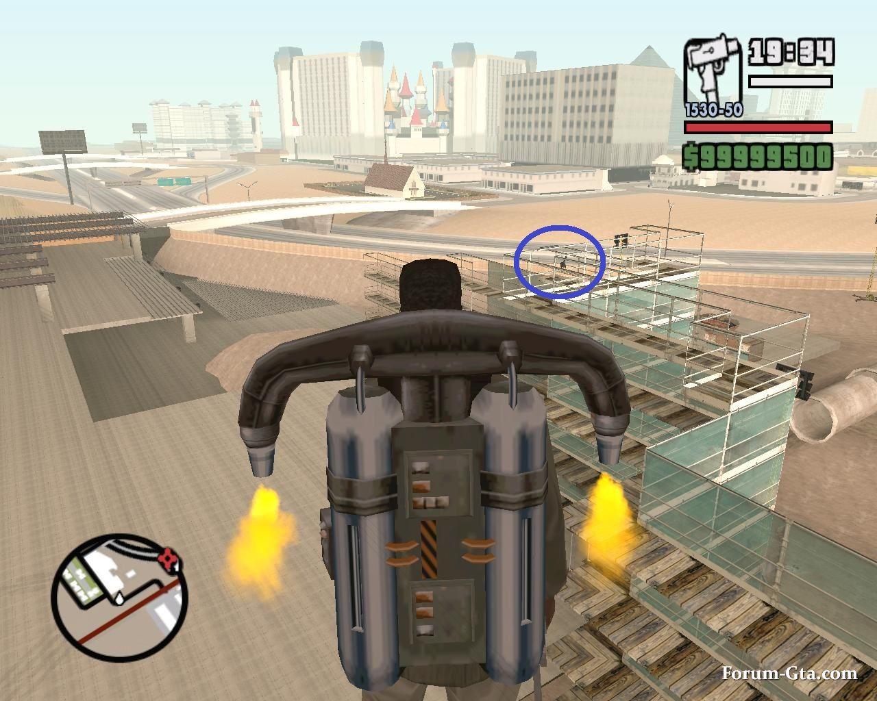Миниган (шестистволка) в GTA SA