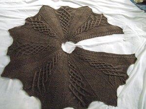 Вязание юбок с аранами спицами