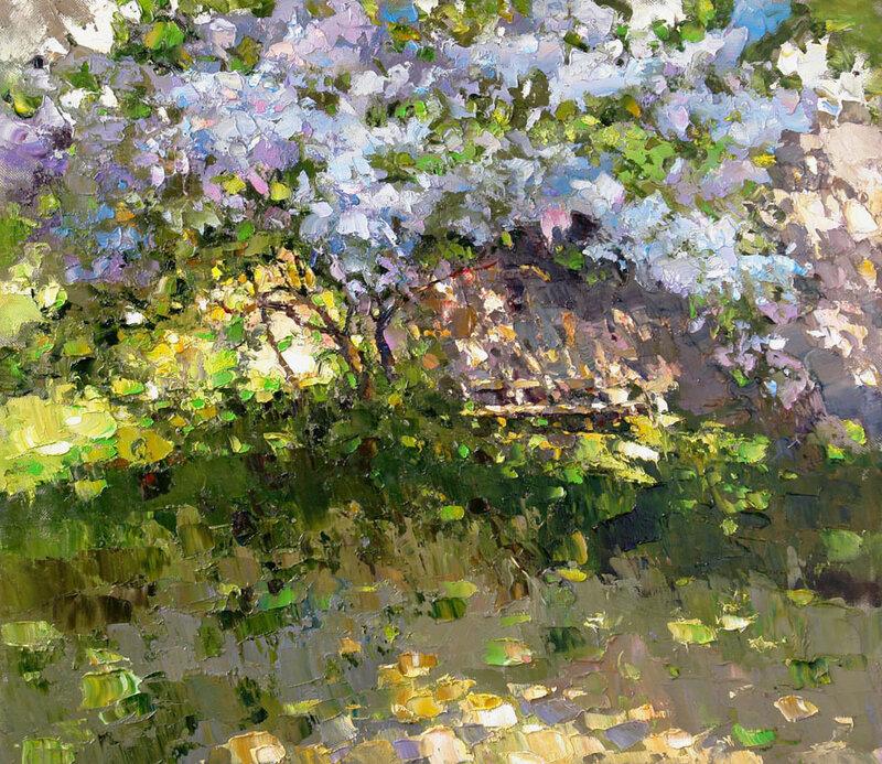 А в палисаднике цветет сирень... Картины Алексея Зайцева