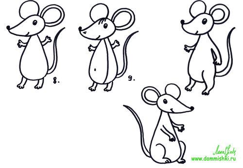 как научиться рисовать мышей