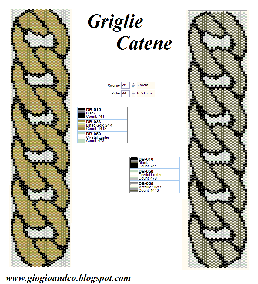 Схема кирпичного плетения бисером браслет