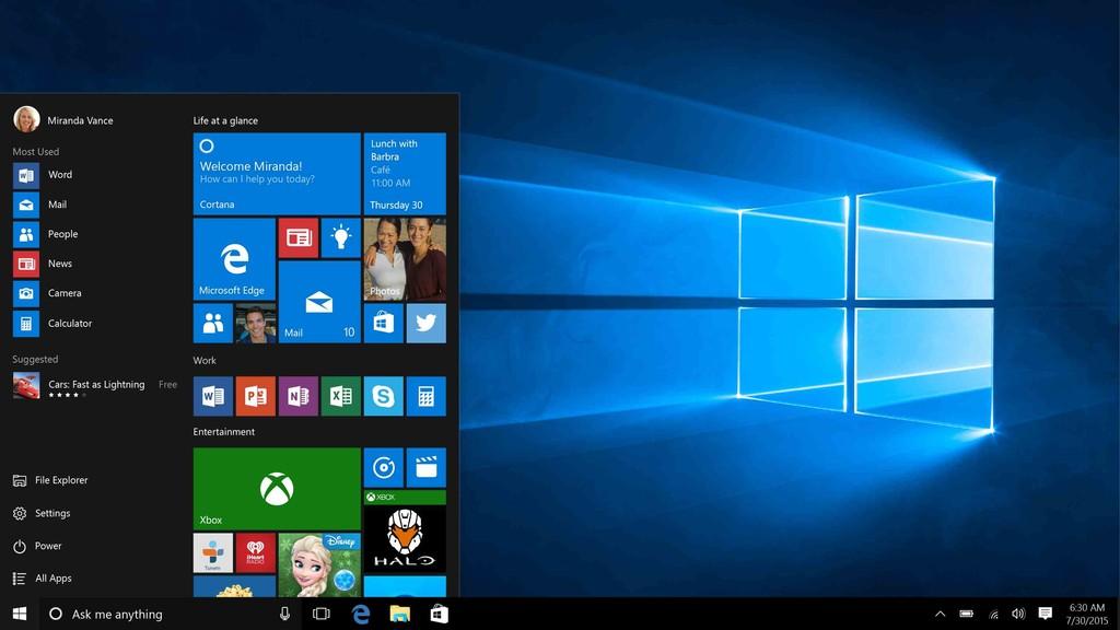 Первый выпуск Windows 10 состоялся 29 июля 2015 года. Последняя тестовая версия вышла буквально на д