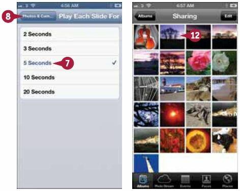 Как на айфоне сделать слайд шоу из фото и 995